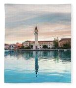 Zaante Town, Zakinthos Fleece Blanket
