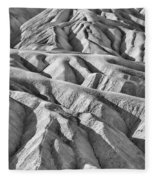 Zabriske Point Death Valley  Bw6398 Fleece Blanket