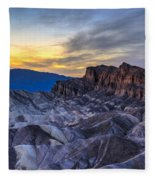 Zabriskie Point Sunset Fleece Blanket