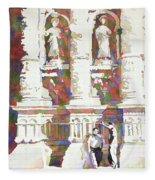 Zacatecas Cathedral Fleece Blanket