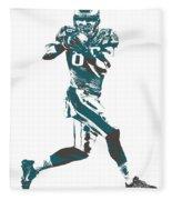 Zach Ertz Philadelphia Eagles Pixel Art 1 Fleece Blanket