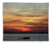 Zadar Sunset Fleece Blanket