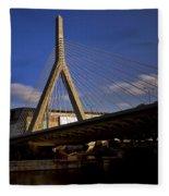 Zakim Bridge And Boston Garden At Sunset Fleece Blanket