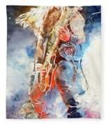 Zakk Wylde - Watercolor 09 Fleece Blanket