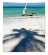 Zanzibar Beach Fleece Blanket