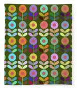 Zappwaits Flower Fleece Blanket