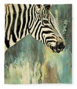 Zebra Abstracts Too Fleece Blanket
