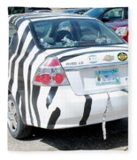 Zebra Car Rear Fleece Blanket