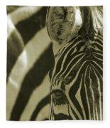 Zebra Close Up A Fleece Blanket