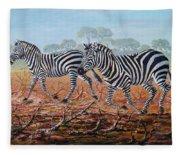 Zebra Crossing Fleece Blanket