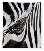 Zebra Eye Fleece Blanket