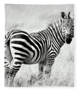 Zebra In The African Savanna Fleece Blanket