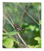 Zebra Longwing Butterfly About To Take Flight Fleece Blanket