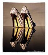 Zebra Print Stiletto Fleece Blanket