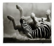 Zebra Rolling Fleece Blanket