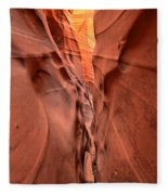 Zebra Slot Canyon Glow Fleece Blanket