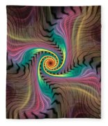 Zebra Spiral Affect Fleece Blanket