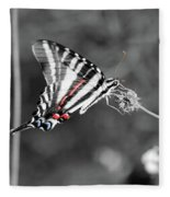 Zebra Swallowtail Butterfly 2016 Fleece Blanket