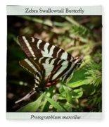 Zebra Swallowtail Butterfly Fleece Blanket