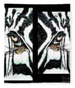 Zebras Eye - Studio Abstract  Fleece Blanket