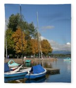 Zell Am See The Elements In Austria Fleece Blanket