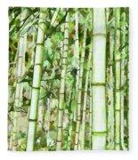 Zen Bamboo Forest Fleece Blanket