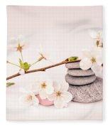 Zen Cherry Blossom Fleece Blanket