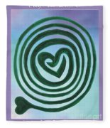 Zen Heart Labyrinth Sky Fleece Blanket