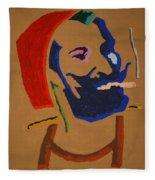 Brown Zig Zag Man Fleece Blanket