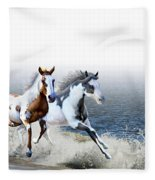 Ziggy's And Annie's Beach Run Fleece Blanket