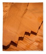 Zigzag Sandstone Fleece Blanket