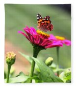 Zinnia Visitor Fleece Blanket