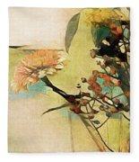 Zinnias From The Garden Fleece Blanket by Susan Maxwell Schmidt