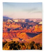 Zion At Sunset Fleece Blanket