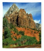 Zion National Park Utah Fleece Blanket