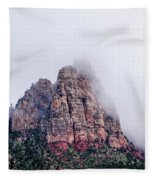 Zion Red Rock And Clouds Fleece Blanket