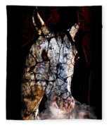 Zombified Horse Fleece Blanket