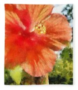 Zoo Flower Fleece Blanket