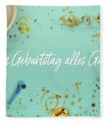 Zum Geburtstag Alles Gute Party Scene Layflat Fleece Blanket