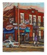 Zytynsky's Deli Rosemont Montreal Fleece Blanket