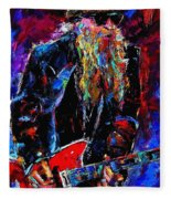 Zz Top Billie Gibbons Fleece Blanket