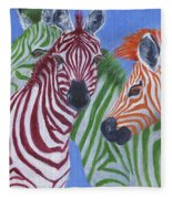 Zzzebras Fleece Blanket