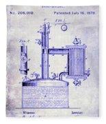 1878 Beer Boiler Patent Blueprint Fleece Blanket