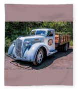 1938 Diamond T Stakebed Truck Fleece Blanket
