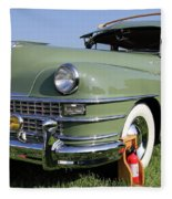 1947 Chrysler Town And Country Woody Fleece Blanket