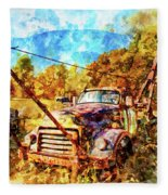 1950 Gmc Truck Fleece Blanket