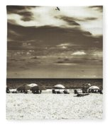A Day On The Jersey Shore Fleece Blanket
