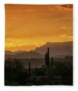 A Golden Sunrise  Fleece Blanket