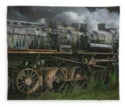 Abandoned Steam Locomotive  Fleece Blanket