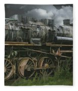 Abandoned Steam Locomotive  Fleece Blanket